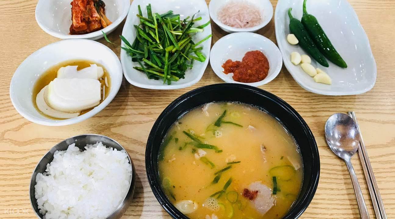 soup and rice lunch dishes